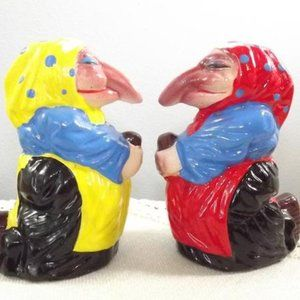 Kitchen Witches Porcelain Salt And Pepper Shakers